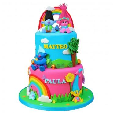 Troll Birthday Cake