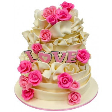 Vanilla Love Wedding Cake