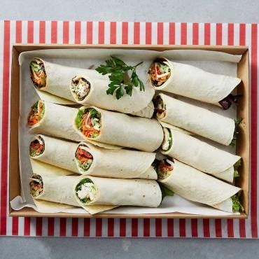 Vegetarian Party Wraps Platter