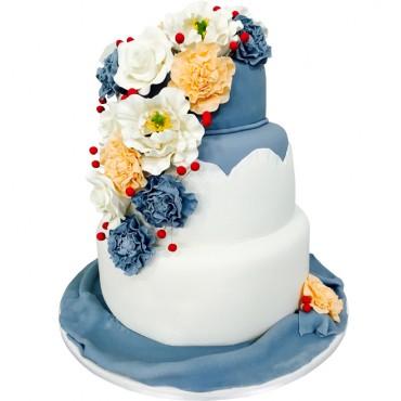 Velvet Crush Wedding Cake