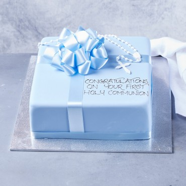 Rosary Bead Cake (Blue) - Square