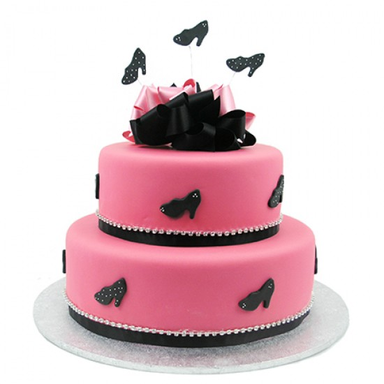 Diamante Shoe Cake