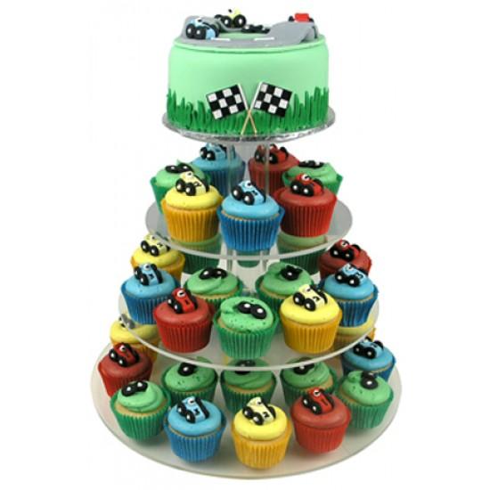 Racing Car Cupcake Birthday Cake