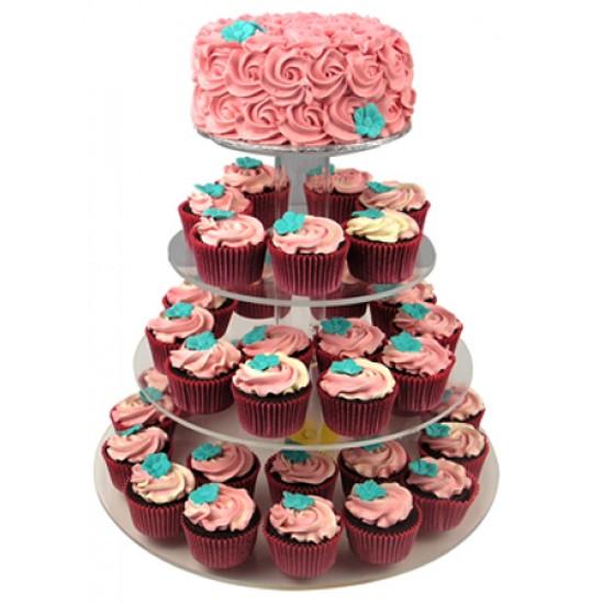 Red Velvet Cupcake Cake