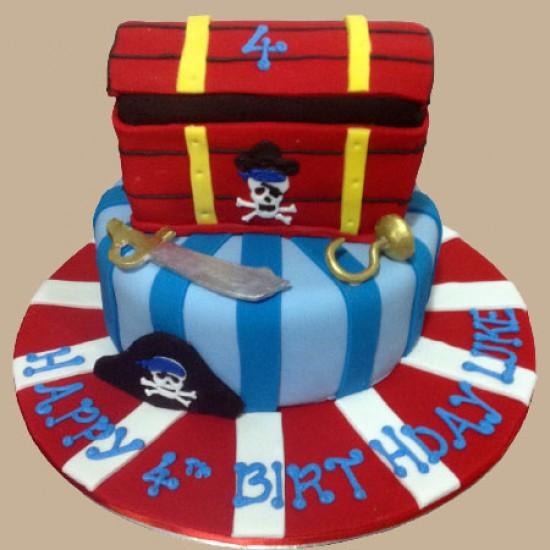 Pirate's Treasure Chest Custom Birthday Cake
