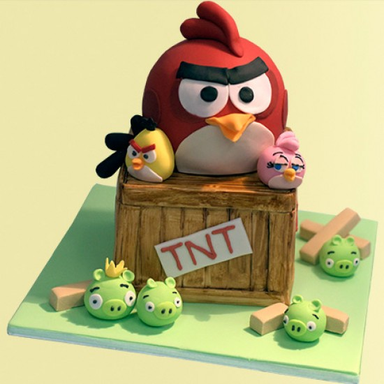 Outstanding Angry Birds Birthday Cake Funny Birthday Cards Online Alyptdamsfinfo
