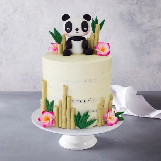 Fine Panda Bear Birthday Cake Personalised Birthday Cards Fashionlily Jamesorg