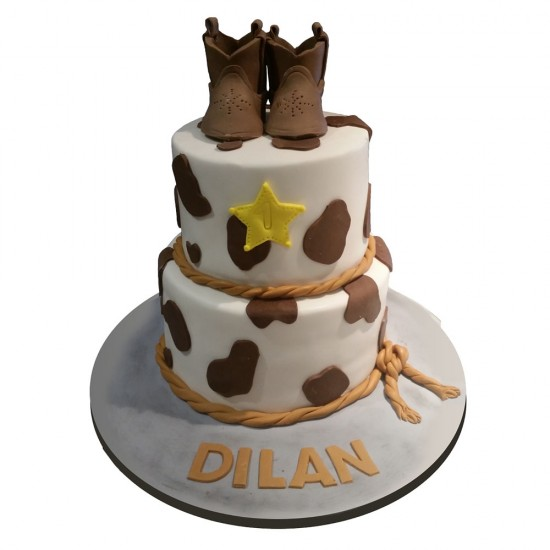 Click For Larger Image Cowboy Birthday Cake