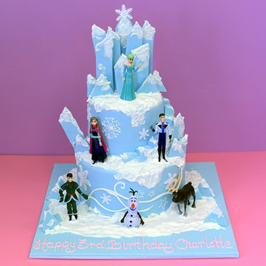 Frozen Mountain Birthday Cake
