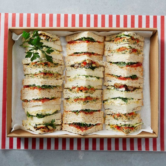 Gourmet Vegetarian Sandwiches Platter