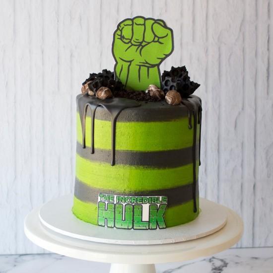 Marvelous Hulk Birthday Cake Personalised Birthday Cards Xaembasilily Jamesorg