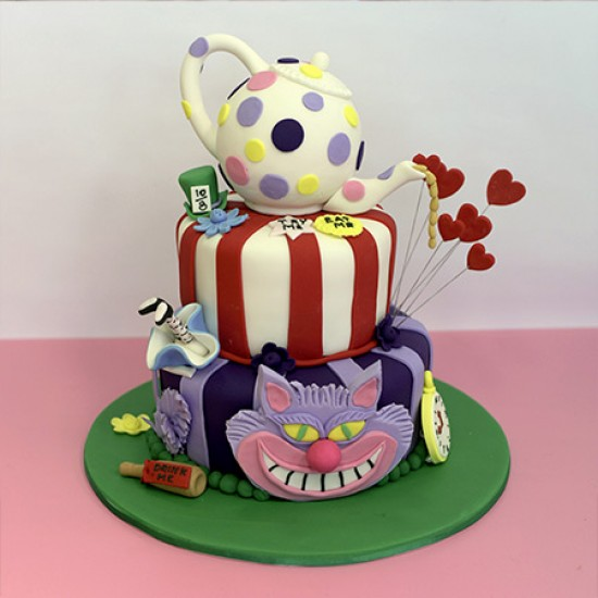 Mad Hatter Birthday Cakes Photos