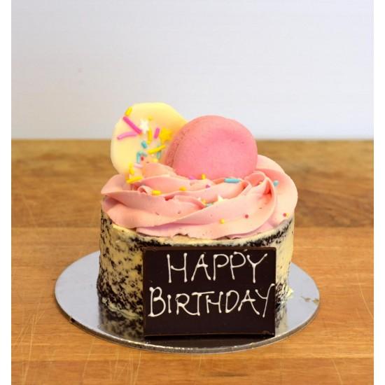 Admirable Pink Mini Mud Birthday Cake Birthday Cards Printable Trancafe Filternl
