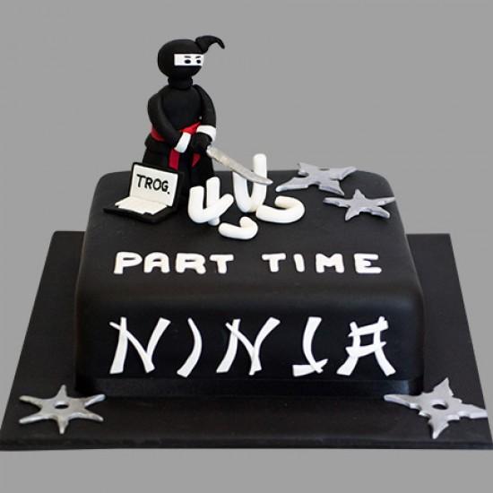 Part Time Ninja Custom Birthday Cake