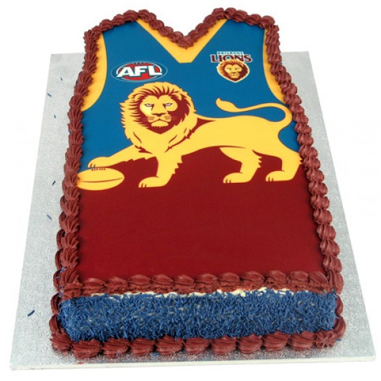 Afl Football Team Cake Shaped