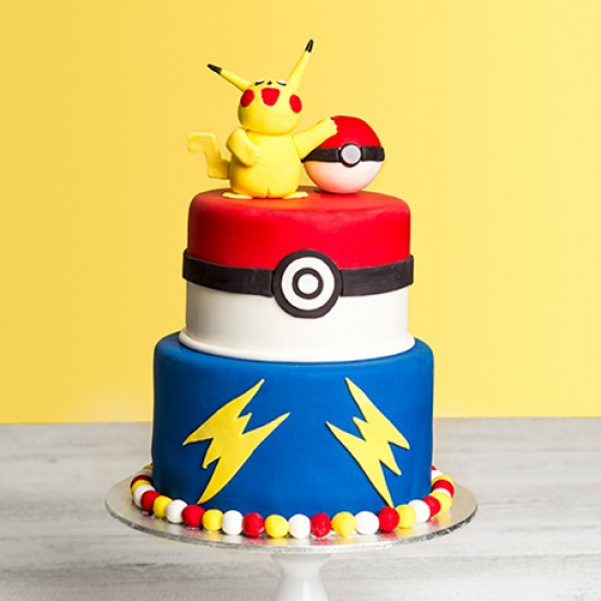 Pokemon Inspired Custom Birthday Cake