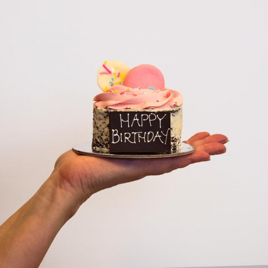 Pink Mini Mud Birthday Cake