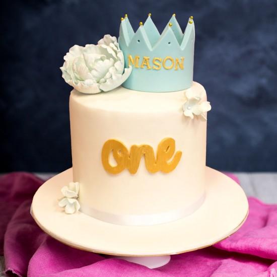 Fabulous Kids Crown Birthday Cake Personalised Birthday Cards Epsylily Jamesorg
