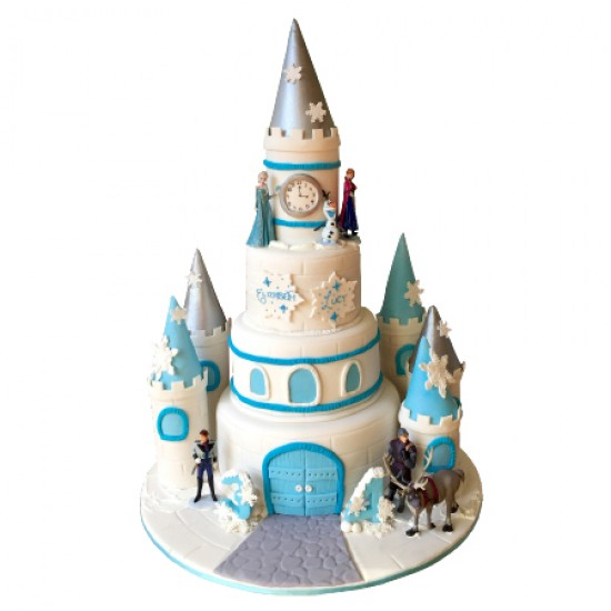 Click For Larger Image Frozen Castle Birthday Cake