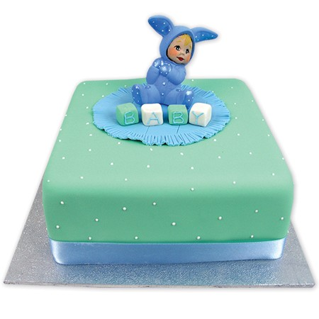 Bunny Baby Birthday Cake