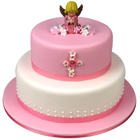 Angel Cake Pink Two Tier