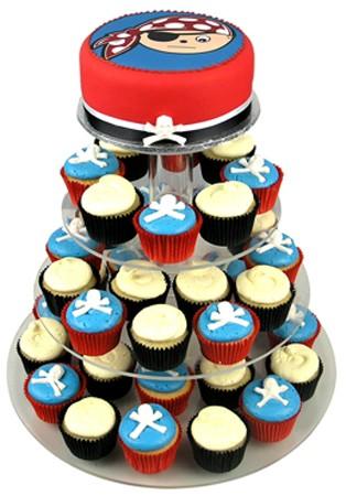 Pirate's Birthday Cupcake Cake