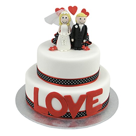 Love Cake Two Tier