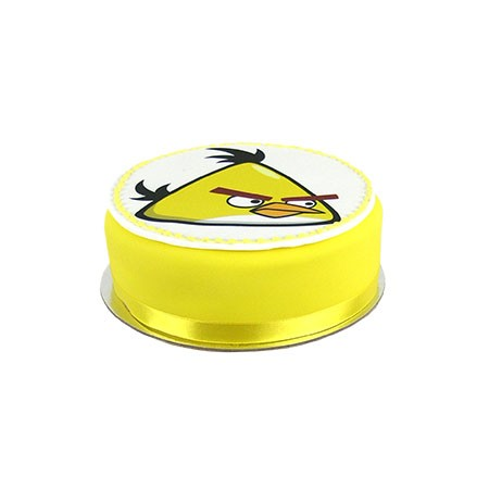 Angry Birds Yellow Bird mud cake - Small