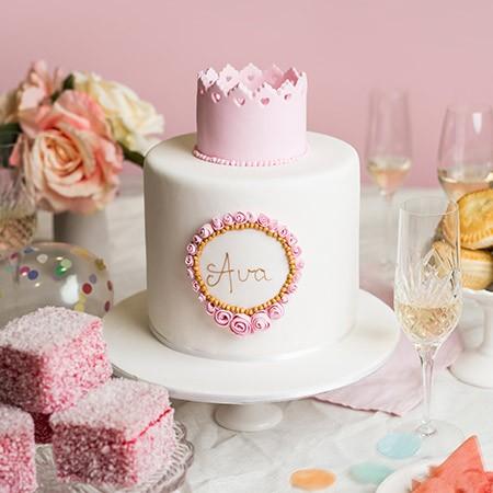 Pink Crown Celebration Cake
