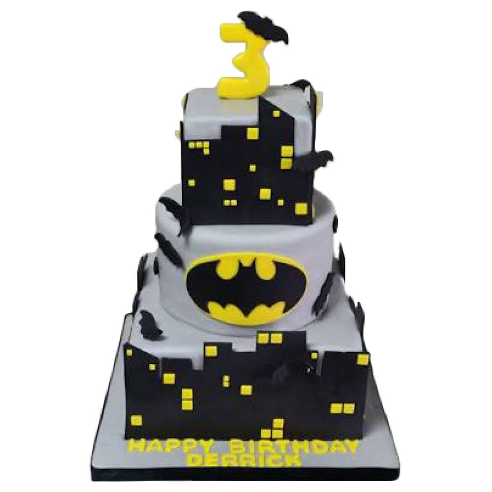 Excellent Batman Gotham City Birthday Cake Personalised Birthday Cards Veneteletsinfo