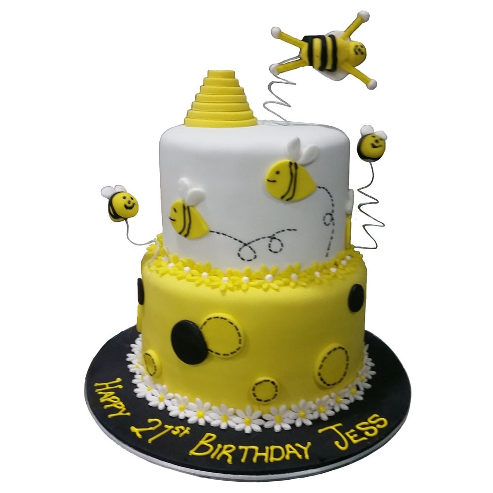 Fabulous Bumblebee Birthday Cake Personalised Birthday Cards Paralily Jamesorg