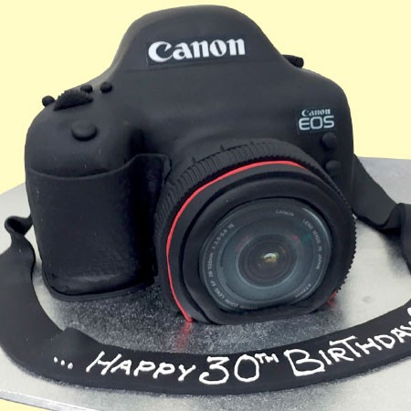 Canon Camera Custom Birthday Cake