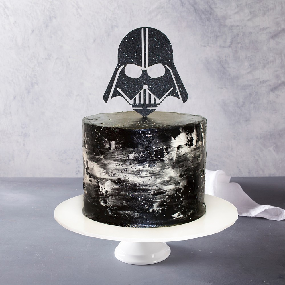 Darth Vader Topped Birthday Cake