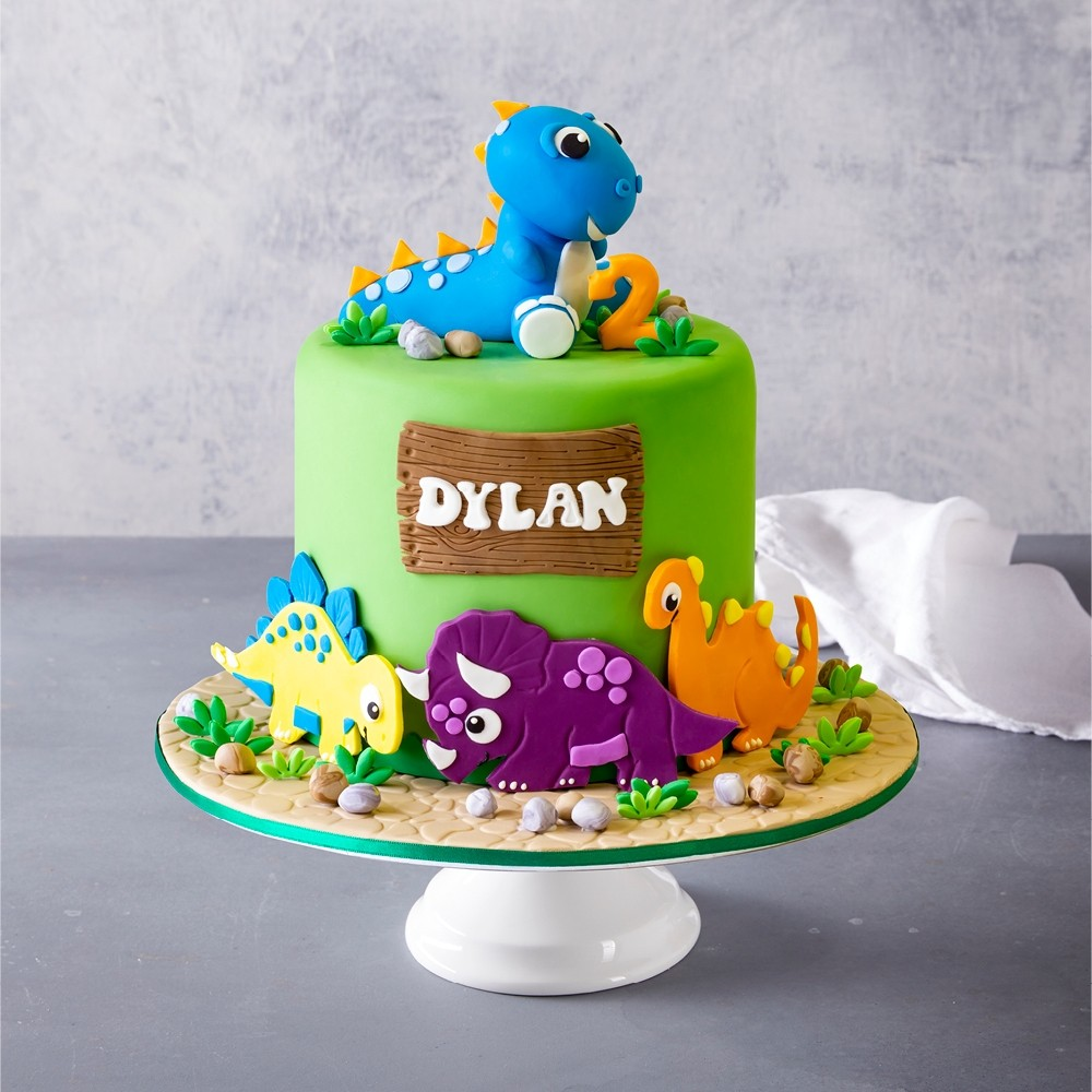 Awesome Dino Birthday Cake Funny Birthday Cards Online Elaedamsfinfo