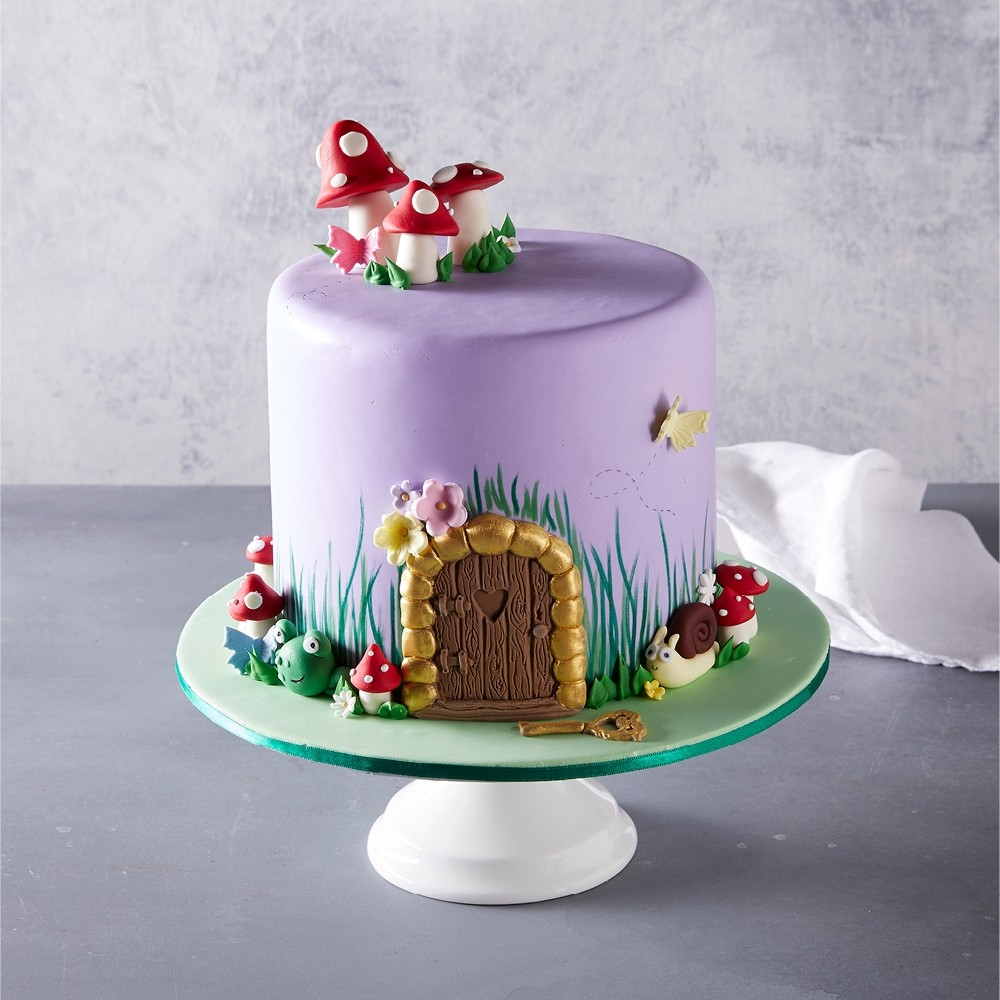 Amazing Fairy House Birthday Cake Funny Birthday Cards Online Fluifree Goldxyz