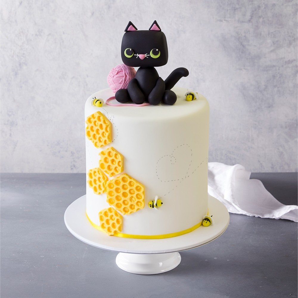 Fantastic Cat Birthday Cake Personalised Birthday Cards Arneslily Jamesorg
