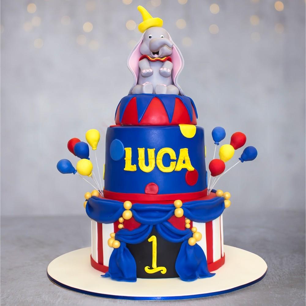 Dumbo's Circus Birthday Cake