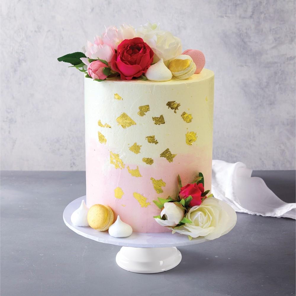 Pink and Gold Celebration Cake