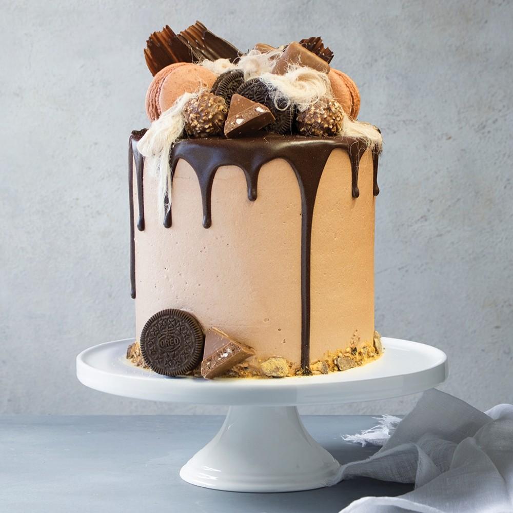 Honeycomb Drip Celebration Cake