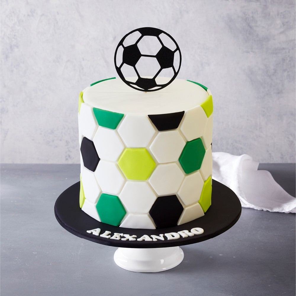 Outstanding Soccer Birthday Cake Personalised Birthday Cards Paralily Jamesorg