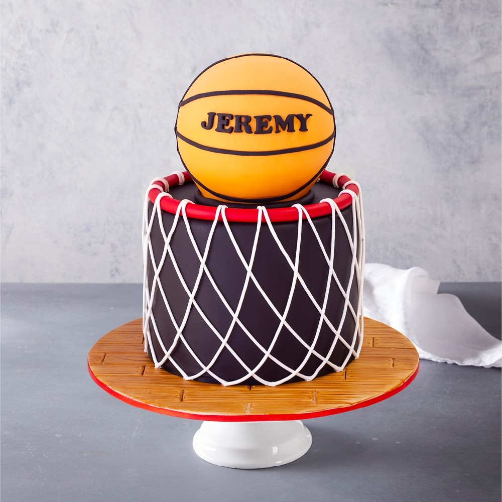 Astonishing Basketball Birthday Cake Funny Birthday Cards Online Unhofree Goldxyz