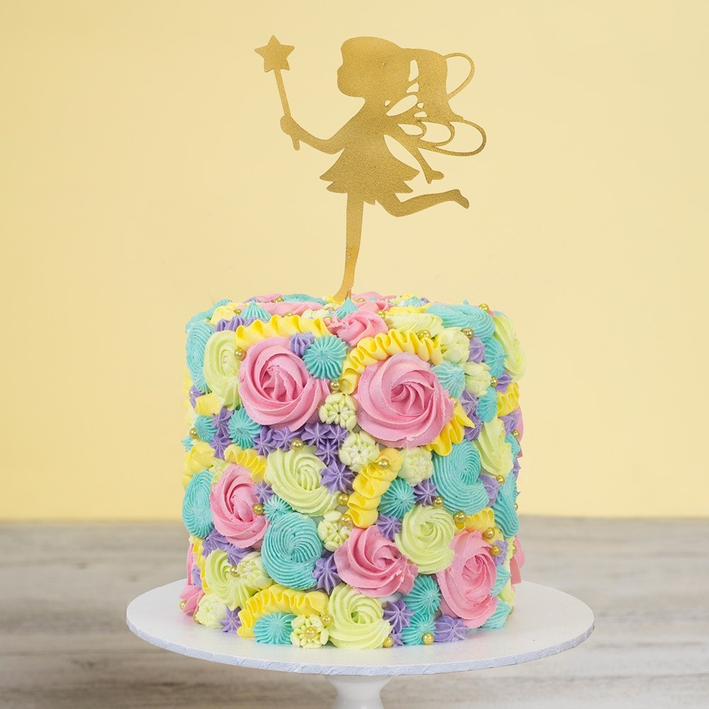 Astonishing Fairy Flowers Birthday Cake Personalised Birthday Cards Sponlily Jamesorg