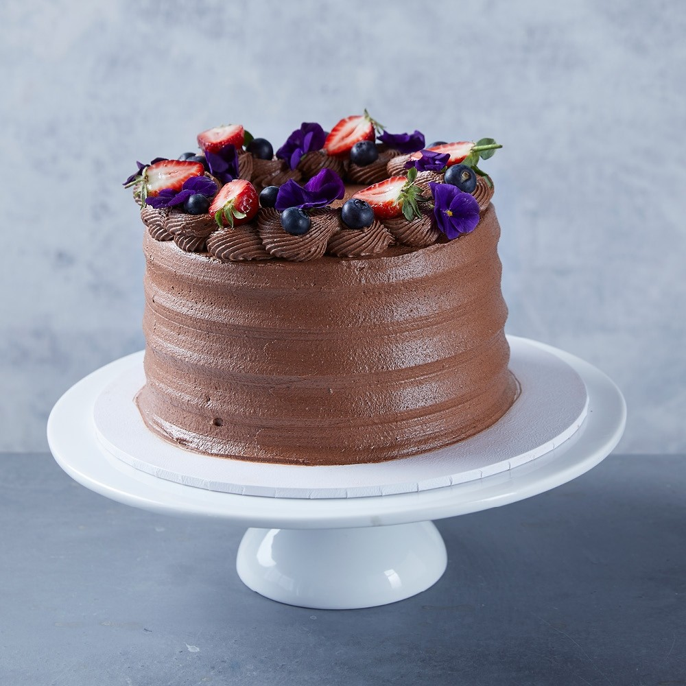 Flourless Chocolate & Berries Cake