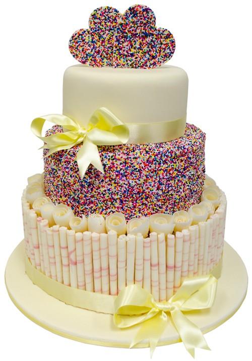 Freckled Love Wedding Cake