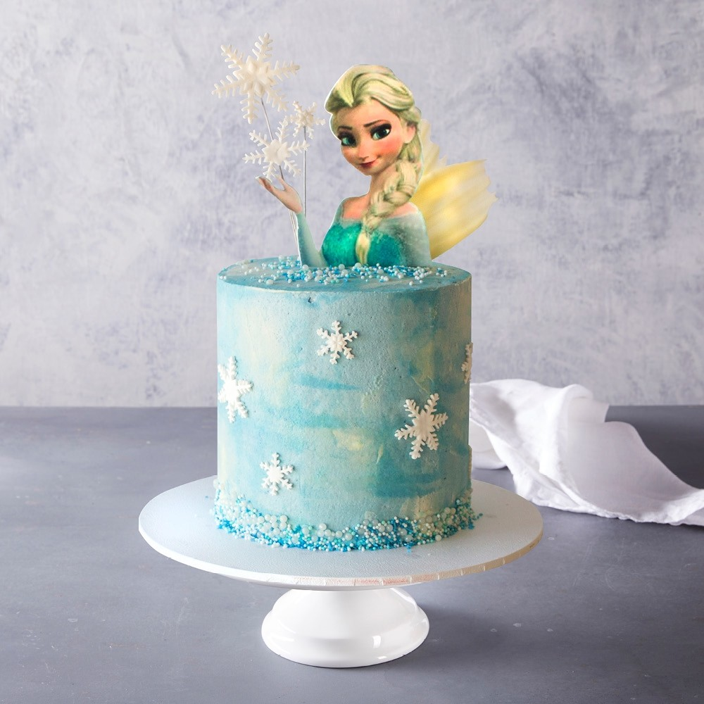 Astonishing Frozen Birthday Cake Birthday Cards Printable Opercafe Filternl