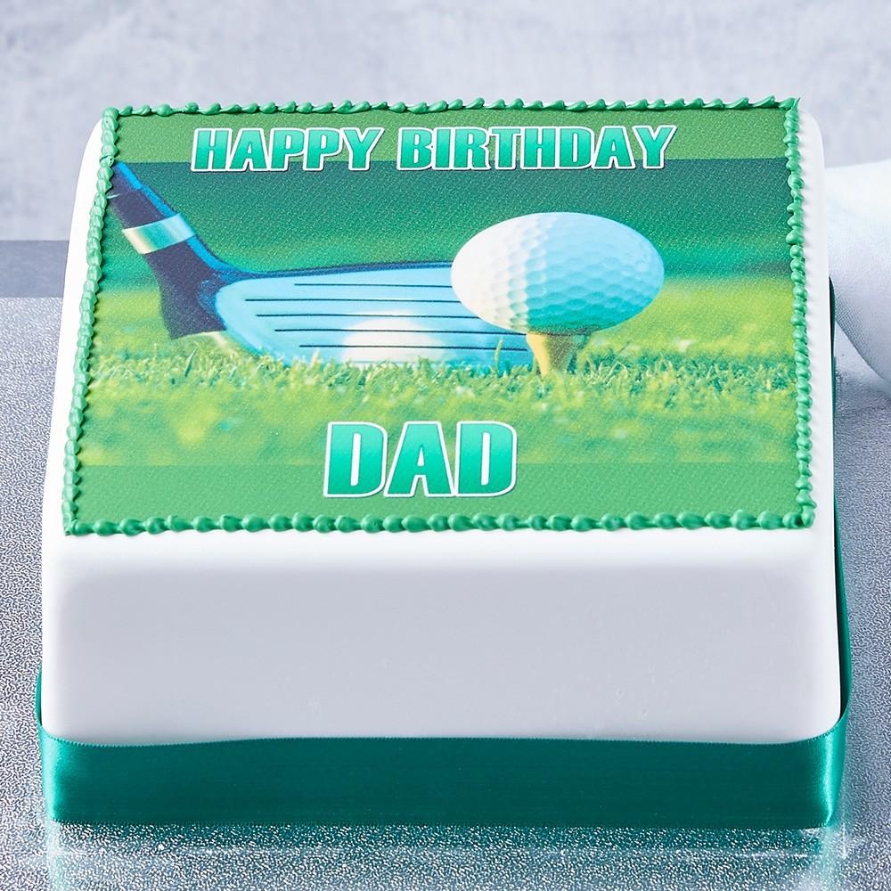 Golf Photo Cake