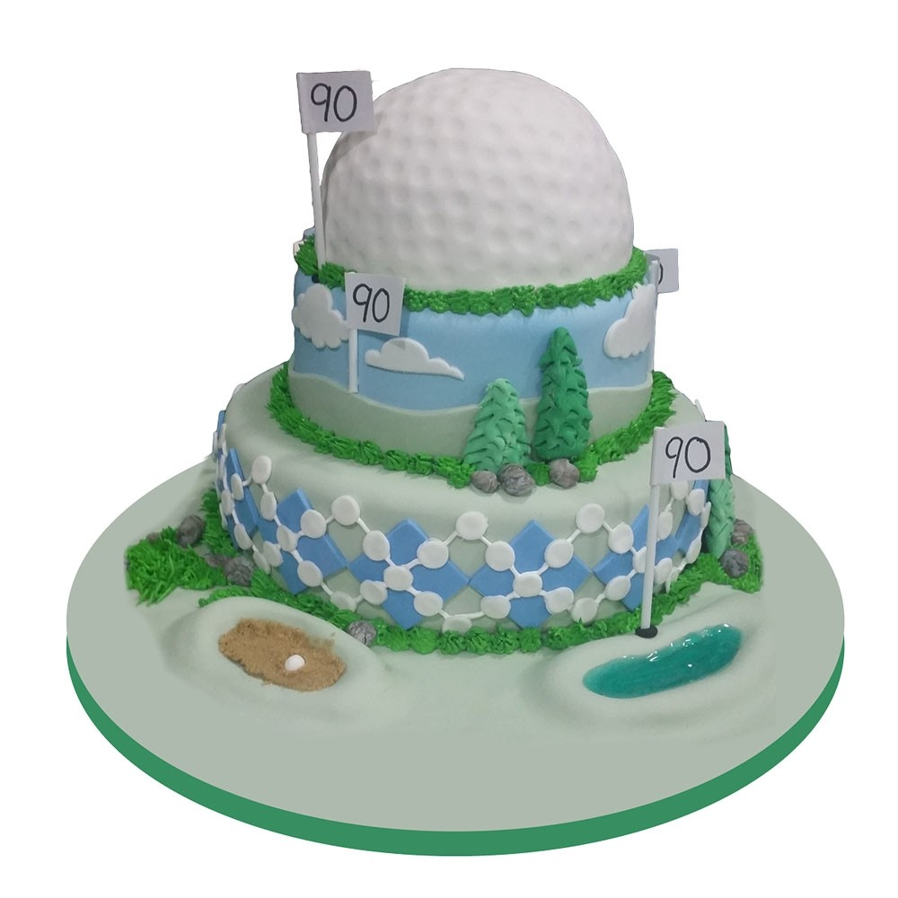Hole In One Golf Birthday Cake