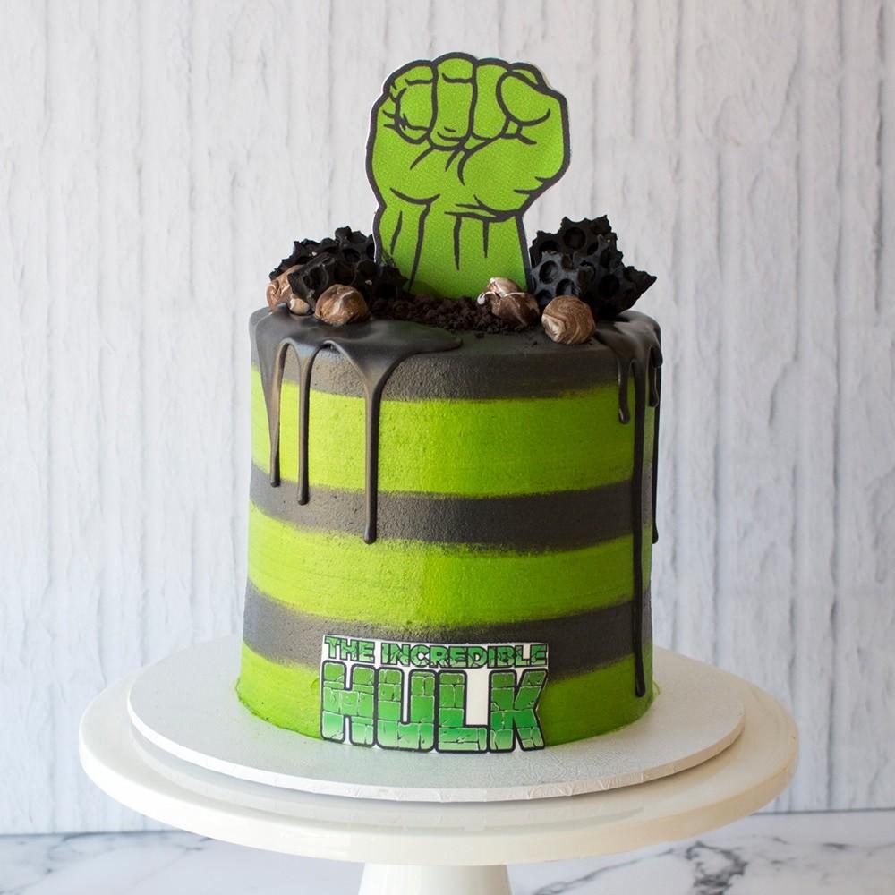 Terrific Hulk Birthday Cake Funny Birthday Cards Online Elaedamsfinfo