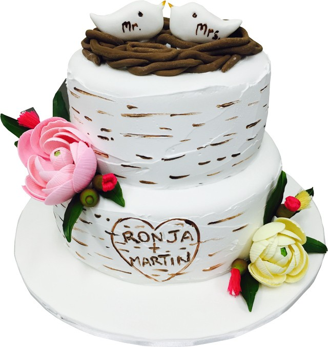 Love Nest Wedding Cake