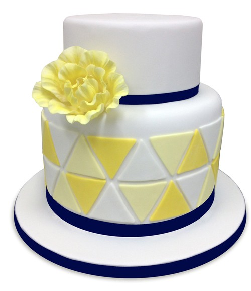 Love Triangle Wedding Cake